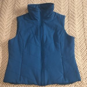 Coldwater Creek Quilted Teal Vest Large 14